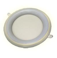 Встраиваемый LED светильник с подсветкой 3W Rim белый