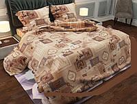 """Двухспальное постельное белье с простыней 200х220 бязь """"ГОЛД"""""""
