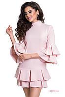 Платье стильное 1105 тан