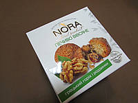 """Печенье овсяное натуральное NORA  """"Грецкий орех с изюмом"""", 250 гр"""