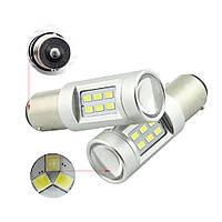 Светодиодные лампы LED/линза P21W (21-SMD)(12V)(3535)(Белый), фото 1