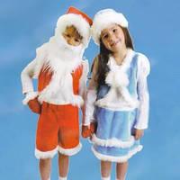 Маскарадный костюм Снегурочка меховая для малышей