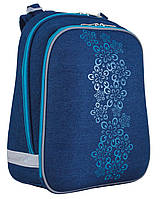 Рюкзак + пенал в подарок- каркасний H-12 Blue Weave, 38*29*15