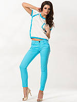 Джинсы Wrangler Premium Patch Sadie Skinny, Turquoise, фото 1