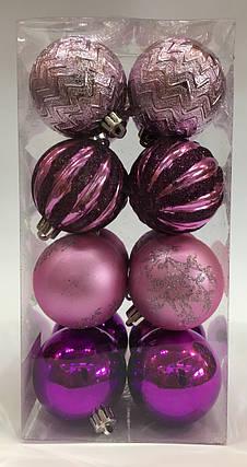 Новогодние шары 16 шт диаметр 6 см, фото 2