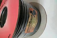 Кабель микрофонный  2 жилы, диаметр 4мм, чёрный, на катушке