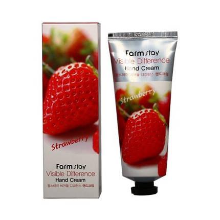 Крем для рук с экстрактом клубники FarmStay Visible Difference Hand Cream Strawberry, 100 мл, фото 2
