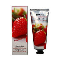 Крем для рук с экстрактом клубники FarmStay Visible Difference Hand Cream Strawberry, 100 мл
