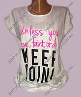 Стильная белалая футболка для женщин