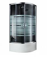 Душевая кабина без поддона Aquaform Lugano 90x90x167 с рисунком lines 100-40104