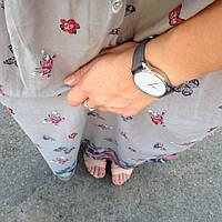 Часы наручные Минимализм серый