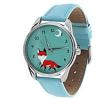Часы наручные Маленький лис голубой