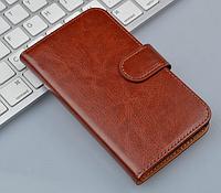 Кожаный чехол книжка для  Lenovo P770 коричневый