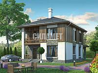 Проект двухэтажного дома ГБ-479 под ключ