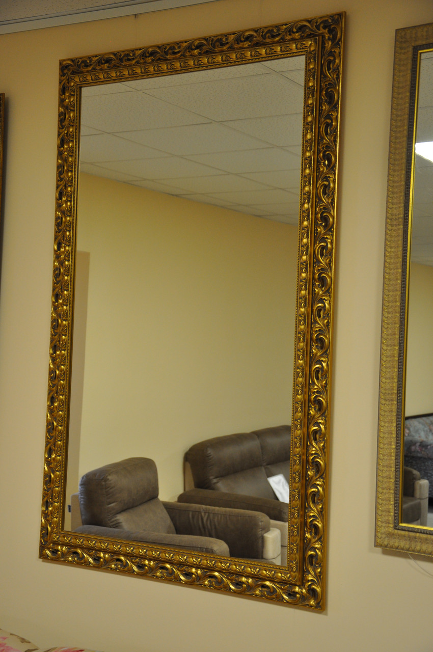 Зеркало в деревянной раме 1450х900