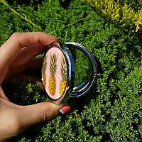 Карманное зеркало Ананас