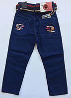 Цветные брюки-джинсы на мальчика на 1-2 года весна синий