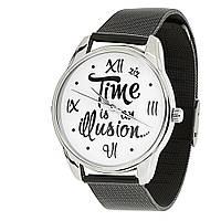 Часы наручные Иллюзия времени металл