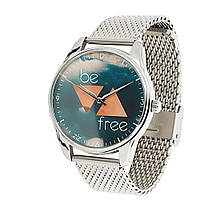 Часы наручные Будь свободным металл