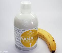 Шампунь KALLOS BANANA мгновенное восстановление Банан от Каллос 1000мл.