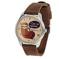 Часы наручные Ленивец нейлон