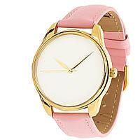 Часы наручные Минимализм золото розовый