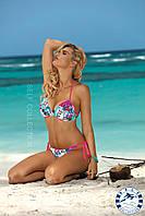 Купальник пуш-ап раздельный с цветочным принтом Palm Beach