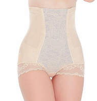 Высокие утягивающие высокие трусы бежевые - корсет, боди Shapewear Brief Underwear Body Shaper