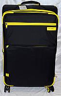 Набор чемоданов черный с желтыми вставками 4 колесах 3 шт THREE BIRDS 9022 (28х24х20)