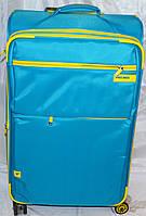 Набор чемоданов голубой с желтыми вставками 4 колесах 3 шт THREE BIRDS 9022 (28х24х20)