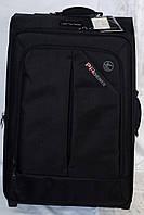Набор чемоданов черный на 4х колесах 3 шт THREE BIRDS (28х24х20)