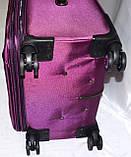 Набор чемоданов черный на 4х колесах 3 шт THREE BIRDS (28х24х20), фото 4