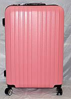 Набор чемоданов розовый на 4 двойных колесах 3 шт THREE BIRDS