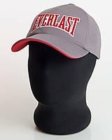 """Бейсболка спортивная """" Everlast"""" серая с красным подкозырьком (лакоста пятиклинка)"""