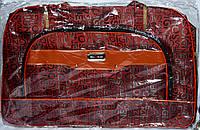 Женские дорожные сумки из текстиля (КРАСНЫЙ)
