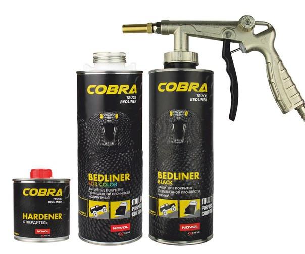 Novol Cobra Truck Bedliner сверхпрочное покрытие черное.