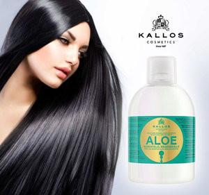 Шампунь Kallos Aloe для восстановления блеска сухих и поврежденных волос