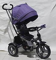 Детский велосипед-коляска CROSSER T-503 ECO, фиолетовый ***