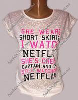 Стильная молодежная футболка для девушек