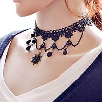 Чокер ожерелье на шею с подвесками