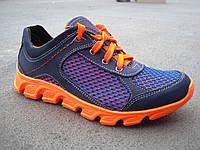 Подростковые кроссовки замш +сетка 32-39 р-р
