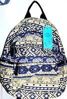 Джинсовые рюкзаки (СИНИЙ - ПРИНТ ЭТНО)