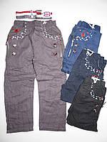 Котоновые брюки для мальчиков Mr.David оптом ,98-128 рр.