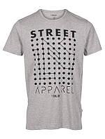 Мужская футболка серая Орр от !Solid в размере L
