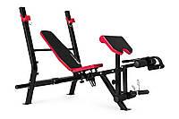 Штанга Premium HS-1090 48кг со скамьей для дома и спортзала