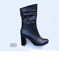 """Кожаные женские ботинки\полусапог мод.""""Бантик"""""""
