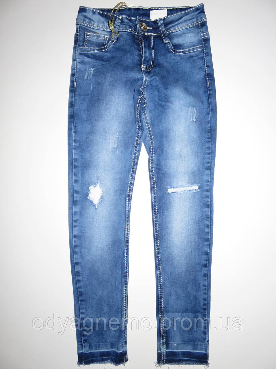 Джинсовые брюки для девочек Seagull оптом,6-16 лет.