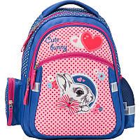 Рюкзак девочке школьный 522 Cute Bunny K17-522S Kite