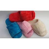 Махровые тапочки голубые и молочные, женские тапочки, обувь для дома