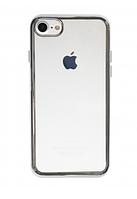 """Прозрачный силиконовый чехол для Apple iPhone 7 (4.7"""") с глянцевой окантовкой (серый)"""